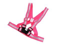 Gyerek fényvisszaverő mellkaspánt - Rózsaszín Gyermek nadrágtartók