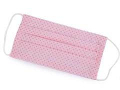 Pamut egyrétegű szájmaszk füles gumival - Rózsaszín Egészségügyi termék