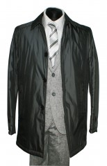 Tavaszi férfi ballonkabát - Fekete Férfi kabát, zakó