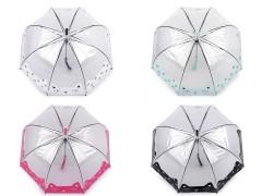 Átlátszó kislány esernyő - Cica Gyerek esernyő, esőkabát