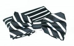 Goldenland csokornyakkendő szett - Fekete csíkos Csokornyakkendő