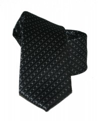 Goldenland slim nyakkendő - Fekete aprópöttyös Aprómintás nyakkendő