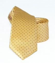 Goldenland slim nyakkendő - Aranysárga pöttyös Aprómintás nyakkendő