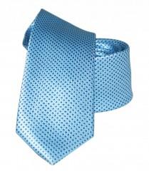 Goldenland slim nyakkendő - Égszínkék pöttyös Aprómintás nyakkendő