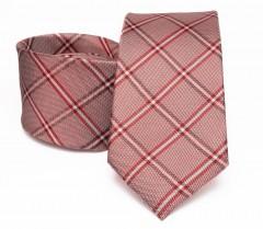 Prémium selyem nyakkendő - Lazac kockás Kockás nyakkendők