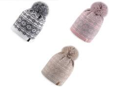 Téli sapka norvég mintával Női kalap, sapka