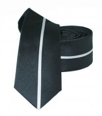 Slim nyakkendő - Fekete csíkos Csíkos nyakkendő