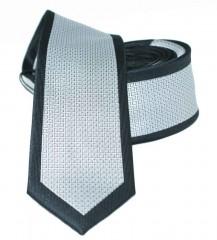 Slim nyakkendő - Ezüst-fekete Mintás nyakkendők
