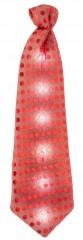 LED party nyakkendő - Piros Party,figurás nyakkendő