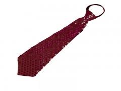 Nyakkendő flitterekkel - Bordó Női nyakkendők, csokornyakkendő