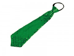 Nyakkendő flitterekkel - Zöld Női nyakkendők, csokornyakkendő