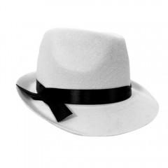 Dekor gengszter kalap - Fehér Férfi kalap, sapka