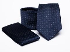 Prémium nyakkendő szett - Kék aprómintás Szettek