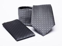Prémium nyakkendő szett - Szürke aprómintás Szettek