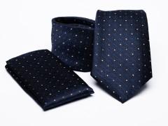 Prémium nyakkendő szett - Sötétkék aprómintás Szettek
