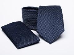 Prémium nyakkendő szett - Sötétkék pöttyös Szettek