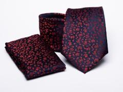 Prémium nyakkendő szett - Piros virágos Szettek