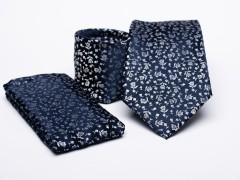 Prémium nyakkendő szett - Kék virágos Szettek