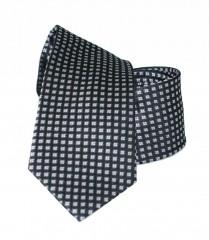 Vincitore slim selyem nyakkendő - Fekete kockás Selyem nyakkendők