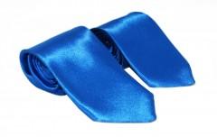 Szatén apa-fia nyakkendő szett - Azúrkék Apa-fia szett