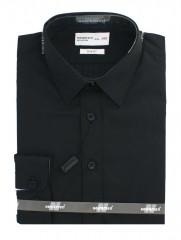 Newsmen gyerek slim hosszúujjú ing - Fekete Gyermek ingek