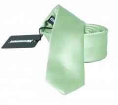 NM Slim szatén nyakkendő - Halványzöld