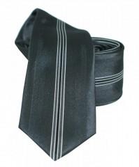 NM slim nyakkendő - Fekete csíkos Csíkos nyakkendő