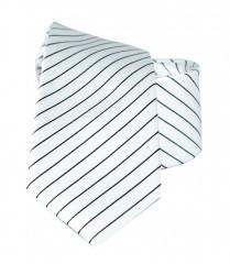 Newsmen gyerek nyakkendő - Fehér-fekete csíkos Gyerek nyakkendők
