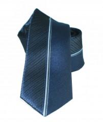 NM slim nyakkendő - Kék csíkos