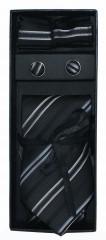 NM Díszdobozos nyakkendő szett - Fekete csíkos Kockás nyakkendők