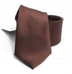 NM szatén nyakkendő - Barna Egyszínű nyakkendő