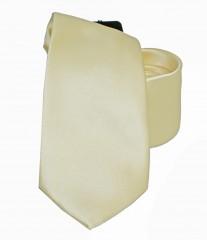 NM szatén nyakkendő - Pasztelsárga Egyszínű nyakkendő