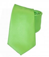 NM szatén nyakkendő - Almazöld