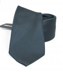 NM szatén nyakkendő - Sötétszürke Egyszínű nyakkendő