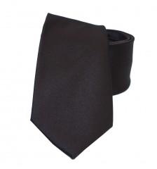 NM szatén nyakkendő - Mélybarna Egyszínű nyakkendő