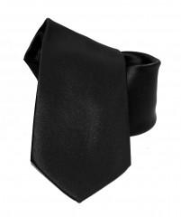 NM szatén nyakkendő - Fekete Egyszínű nyakkendő