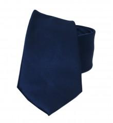 NM szatén nyakkendő - Sötétkék