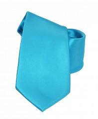 NM szatén nyakkendő - Tűrkízkék