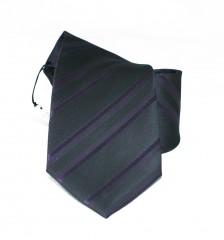 NM classic nyakkendő - Fekete-lila csíkos