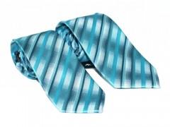 NM apa-fia nyakkendő szett - Tűrkíz csíkos Apa-fia szett