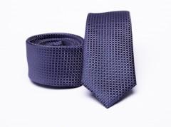 Prémium slim nyakkendő - Kékeslila Kockás nyakkendők