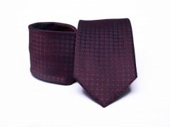 Prémium nyakkendő -  Bordó aprómintás Kockás nyakkendők