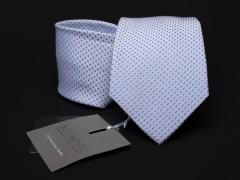 Prémium selyem nyakkendő - Halványkék aprómintás Selyem nyakkendők
