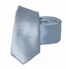 NM slim szatén nyakkendő - Ezüstszürke Egyszínű nyakkendő
