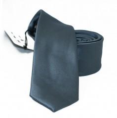 NM slim szatén nyakkendő - Grafit Egyszínű nyakkendő