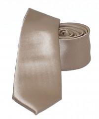 NM slim szatén nyakkendő - Aranybarna