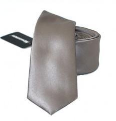 NM slim szatén nyakkendő - Szürkésbarna