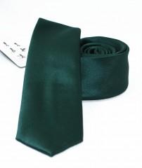 NM slim szatén nyakkendő - Sötétzöld