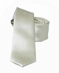 NM slim szatén nyakkendő - Ecru Egyszínű nyakkendő