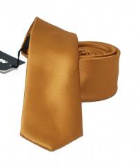 NM slim szatén nyakkendő - Óarany